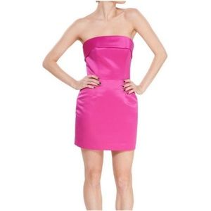 BETSY JOHNSON Duchess Strapless Fuchsia Dress NWT